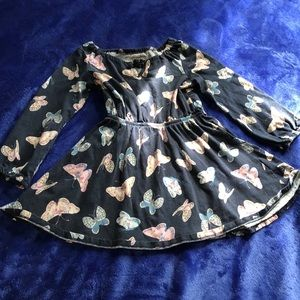 💙 CHILDREN'S PLACE navy butterfly dress
